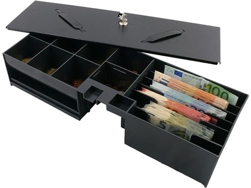 Cash drawer insert with lid for FT460 flip top