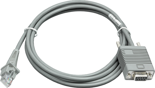 RS232 cable straight 2.00m for Datalogic barcode scanners