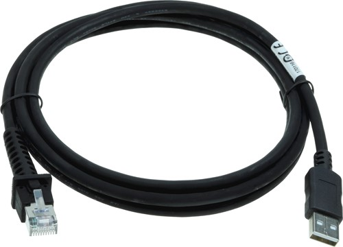 USB cable straight 2.00m black for Datalogic barcode scanners
