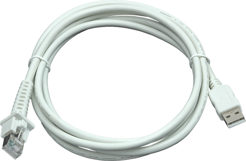 USB cable straight 2.00m white for Datalogic barcode scanners
