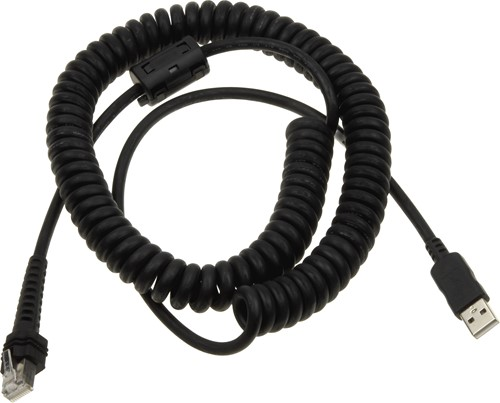 USB cable coiled 3.60m for Datalogic PowerScan
