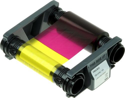 YMCKO Printer ribbon for Evolis Badgy 200 (100 prnt.)