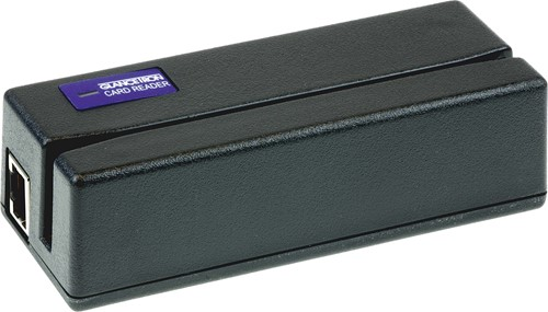 Glancetron 1290 card reader 3-track black (RS-232)