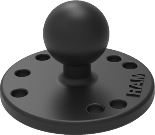 "RAM Base plate round with 25.4mm (1.00"") ball"