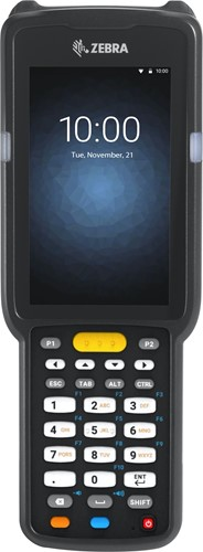 Zebra MC3300 Prem. Pistol grip, 2D LR, 29-Key, Ext.Batt., Android 7