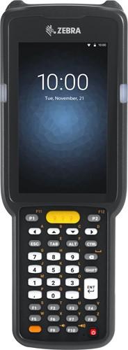 Zebra MC3300 Prem. Pistol grip, 2D LR, 38-Key, Ext.Batt., Android 7