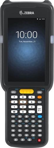 Zebra MC3300 Prem. Pistol grip, 2D LR, 47-Key, Ext.Batt., Android 7