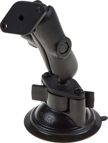 Mount with suction cup for vehicle cradle