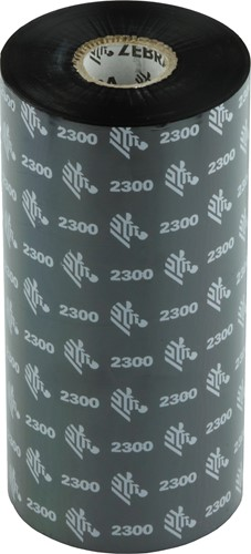 Zebra 2300 Wax ribbon 156mm x 450m