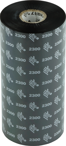 Zebra 2300 Wax ribbon 156mm x 450m