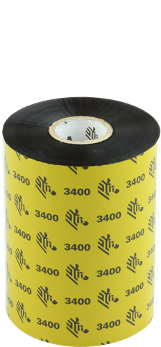 Zebra 3400 Wax/Resin ribbon 102mm x 450m