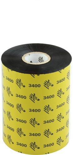 Zebra 3400 Wax/Resin ribbon 102mm x 450m