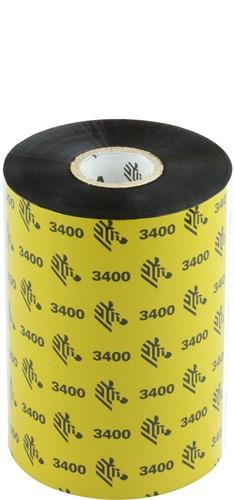 Zebra 3400 Wax/Resin ribbon 110mm x 450m
