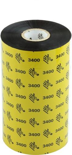 Zebra 3400 Wax/Resin ribbon 131mm x 450m