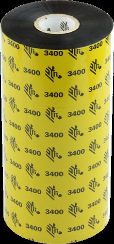 Zebra 3400 Wax/Resin ribbon 220mm x 450m