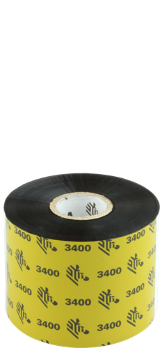 Zebra 3400 Wax/Resin ribbon 60mm x 450m