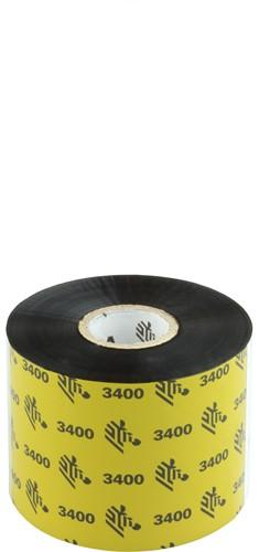 Zebra 3400 Wax/Resin ribbon 60mm x 450m
