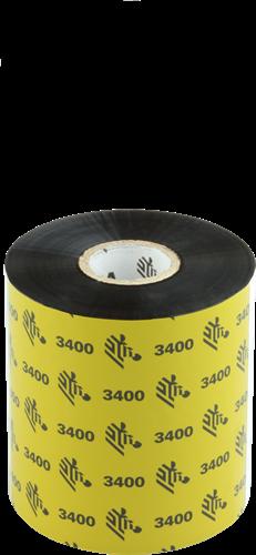 Zebra 3400 Wax/Resin ribbon 83mm x 450m