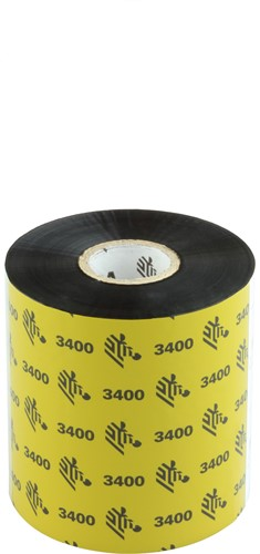 Zebra 3400 Wax/Resin ribbon 83mm x 450m