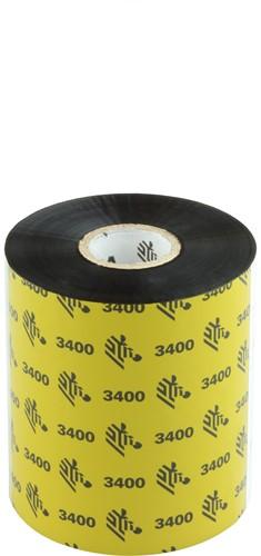 Zebra 3400 Wax/Resin ribbon 89mm x 450m