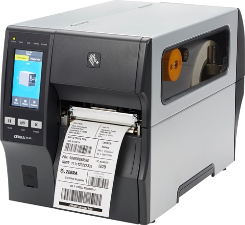 Zebra ZT411 203dpi printer peel-liner rewind (USB-SER-ETH-BT)